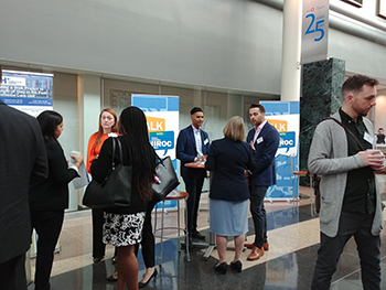 Delegates visiting the HIROC Let's Talk lounge