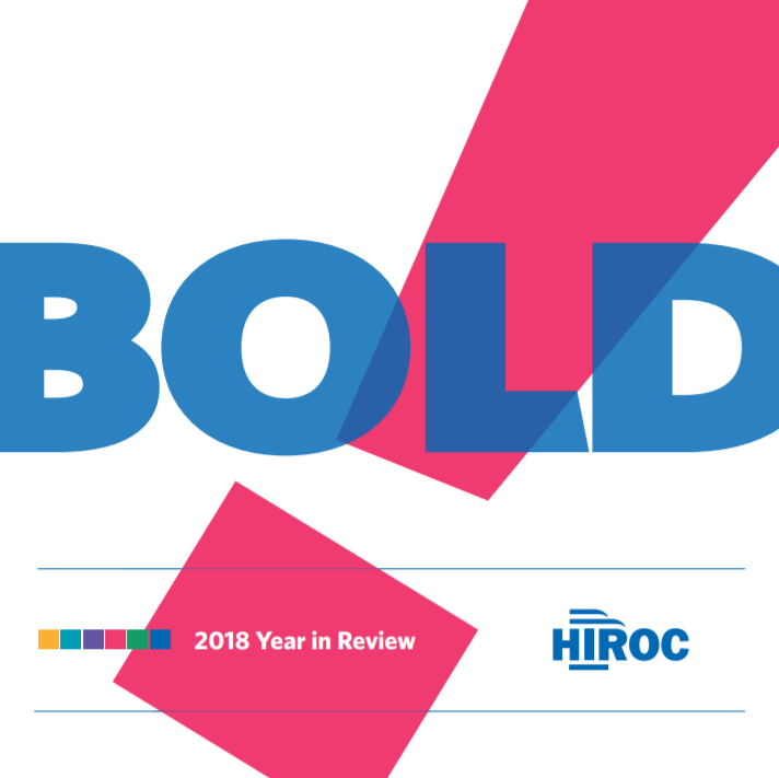 Cover of HIROC's Year in Review, titled Bold