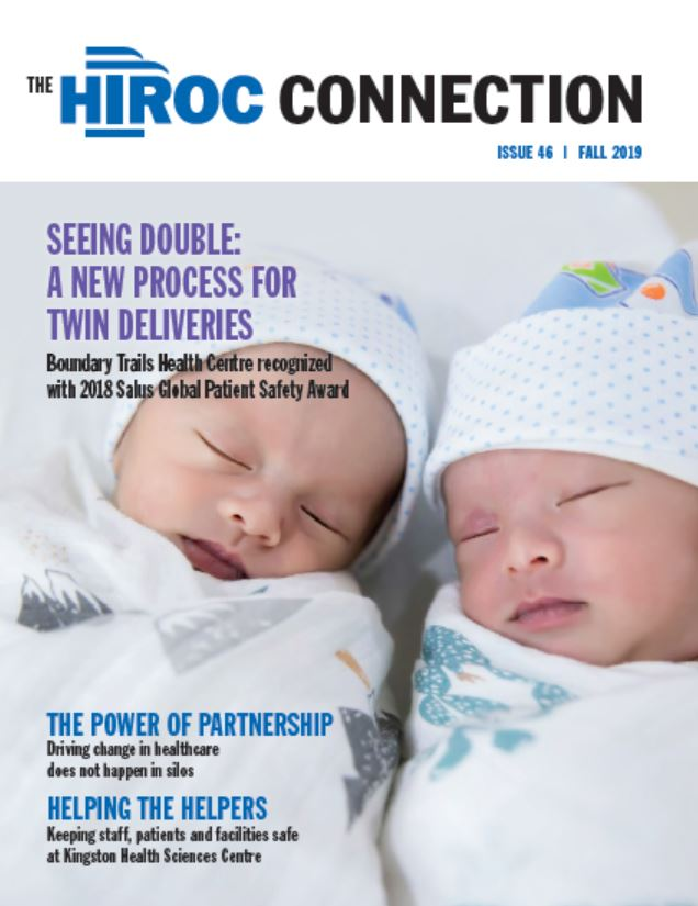 Cover of the Fall 2019 HIROC Connection