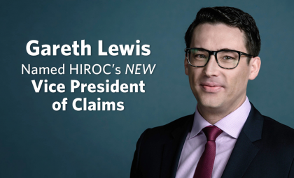 Gareth Lewis Named HIROC's New Vice President of Claims