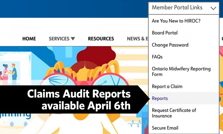 Claims audit reports avail April 6