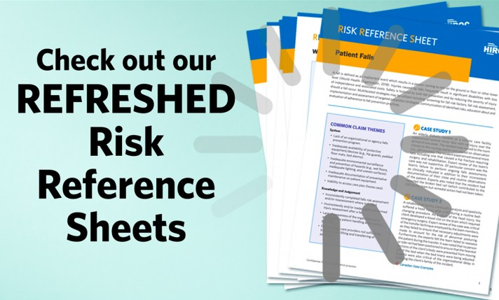HIROC Risk Reference Sheets Refresh – Check them out today!