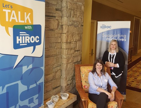 The HIROC Let's Talk Lounge at the 2018 AOM Conference.